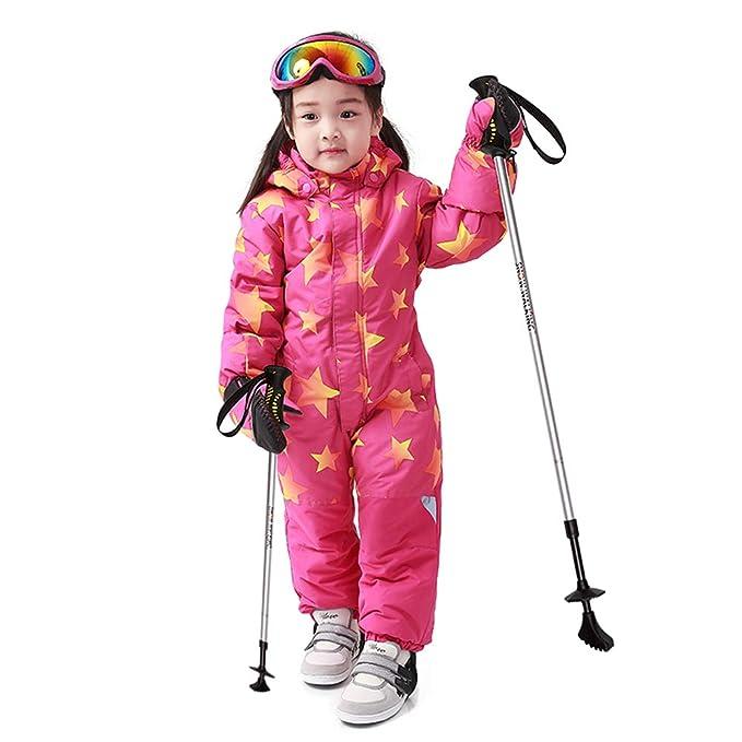 f5d2039a139a Wonny One Piece Snowsuit Kids Waterproof Girls Skisuit Pink 120 (DHL ...