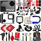 VEHO MUVI KX-1 4K Wi-Fi Sports Action Camera Action Camera w/ 48GB 28PC Bundle - Window Mount - Helmet Mount - Opteka X-GRIP Action Handle - High Power LED Video Light and MUCH MORE