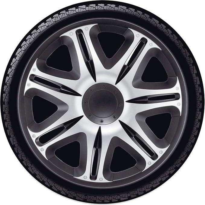 Amazon.com: j-tec J16558 Nascar Hub Cap, Silver/Black, 16 Inch: Automotive
