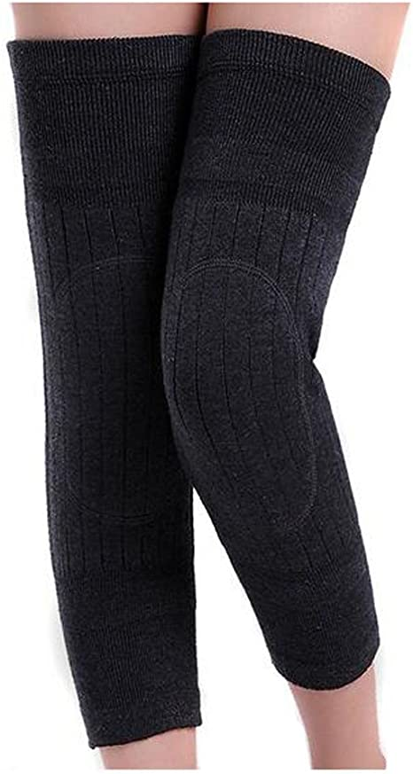Unisex Cashmere Wool Knee Brace Pads Winter Warm Thermal Knee Warmers Sleeve For
