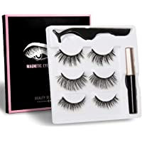 STRONGBOND 2nd Generation UPGRADED Magnetic Eyeliner and 5 Magnet Eyelash Kit Set of 3   3 Looks   3 Styles   Magnetic Eyelashes Lashes   Liquid magnet Liner   Natural Look   with Applicator   No Glue