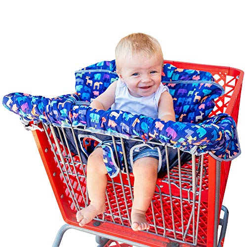 New from Busy Bambino: 2-in-1 shopping cart/high chair cover perfect for you and your baby. Now available in a beautiful animal print. Buy Now! by Busy Bambino (Image #9)