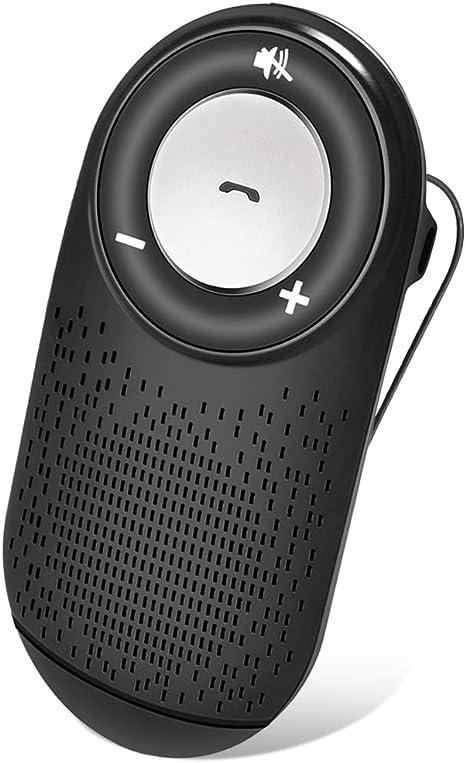 Car Bluetooth per Speaker Musica Vivavoce Bluetooth 4.1 da Auto con Controllo Vocale Kit Vivavoce Bluetooth per Smartphone connettere due dispositivi di smartphone contemporaneamente Funziona con i GPS Samsung Nero Wireless Viva voce per iPhone