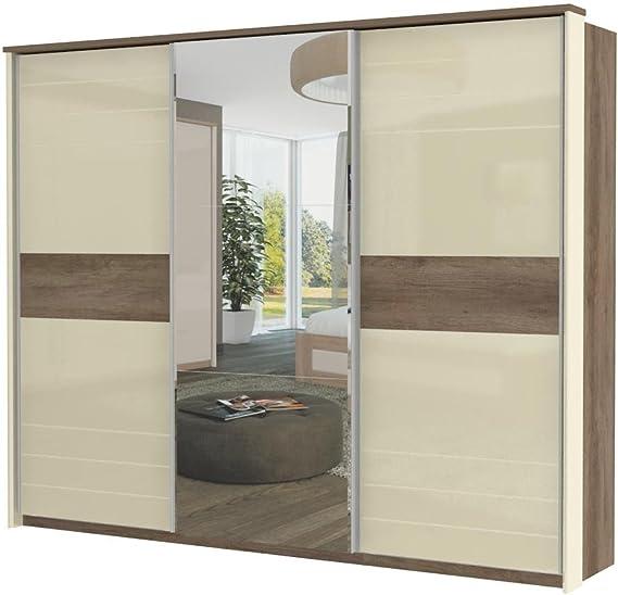 Armario color marrón oscuro 225 x 278 x 64 cm, armario de puertas ...