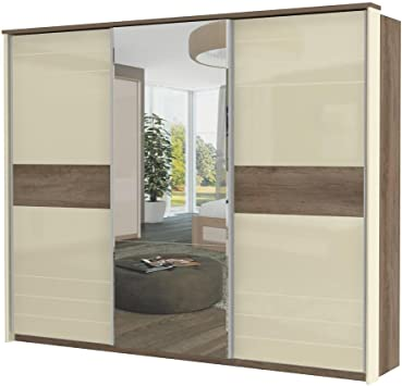 Armario color marrón oscuro 225 x 278 x 64 cm, armario de puertas correderas: Amazon.es: Bricolaje y herramientas