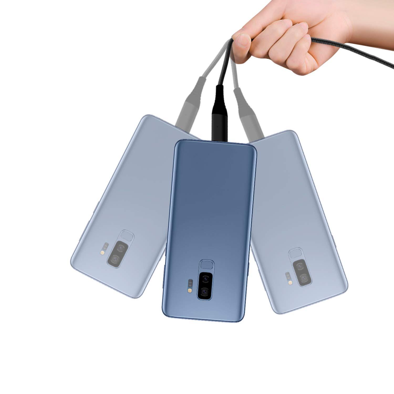 Kabel USB Datenkabel Magnet-Kabel Sync in Silber Charger Liamoo Ladekabel 3in1 Set magnetisch Fast-Charge