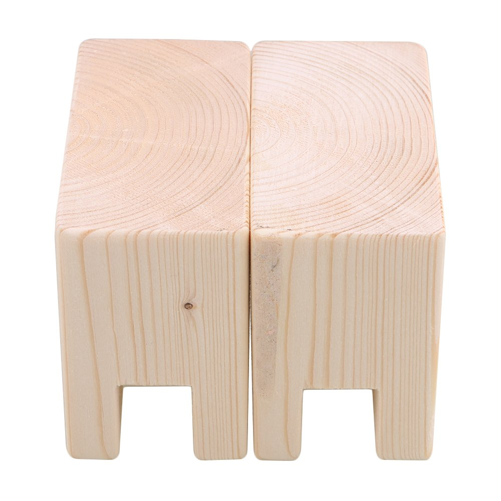 BQLZR 10x5x7.5cm Wood Table Desk Bed Risers Lift Furniture Lifter Storage for 2CM Groove Feet Up to 5CM Lift Pack of 2 by BQLZR (Image #3)