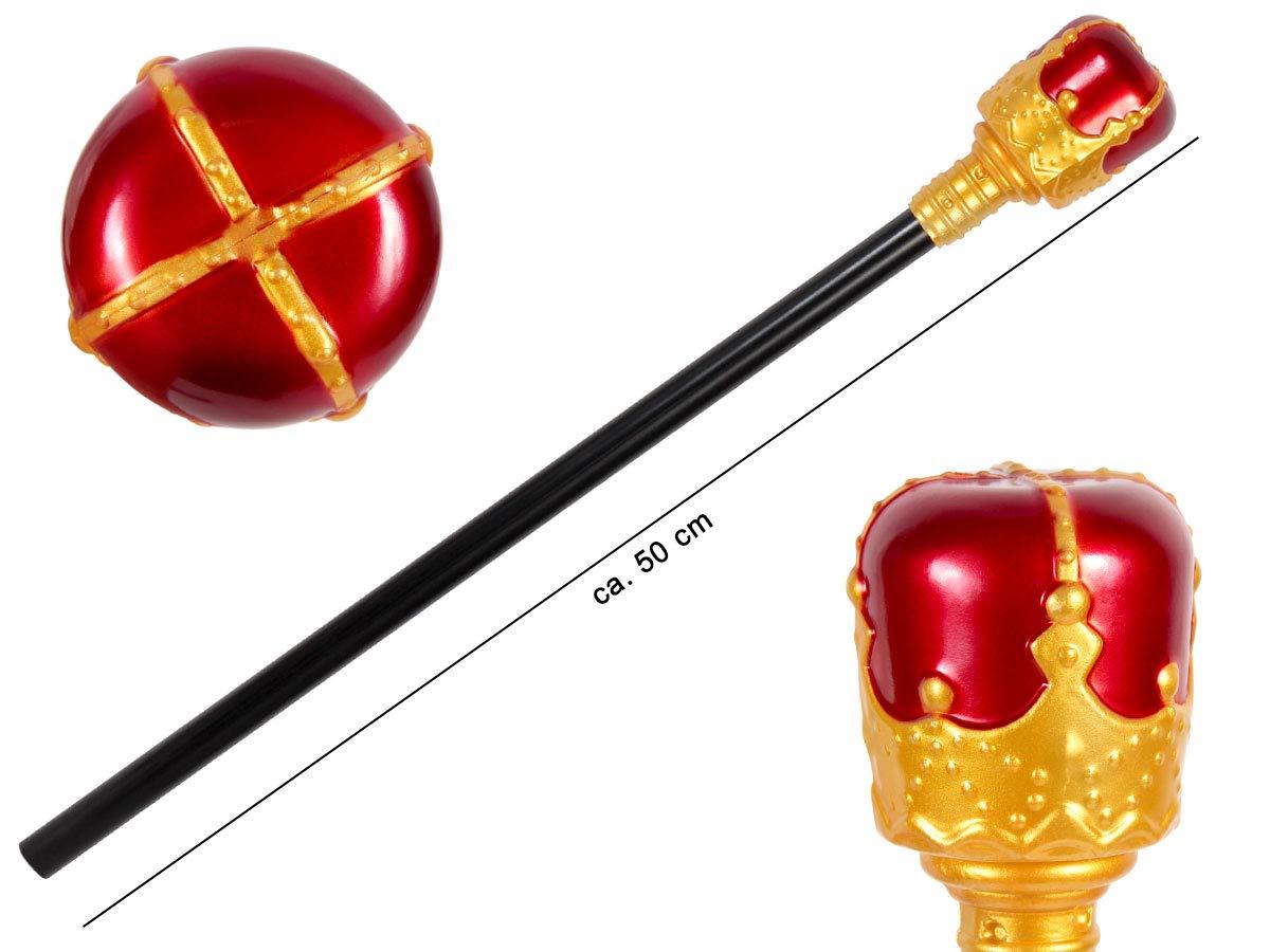 45 cm Königsstab Königszepter ca