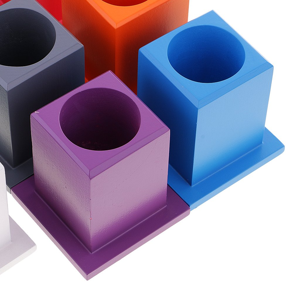 11 Colored Pen Container Holder Fenteer Kids Montessori Early Learning Toy Gift