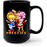 Rainbow Brite Ceramic Coffee Mug Tea Cup (15oz, Black)