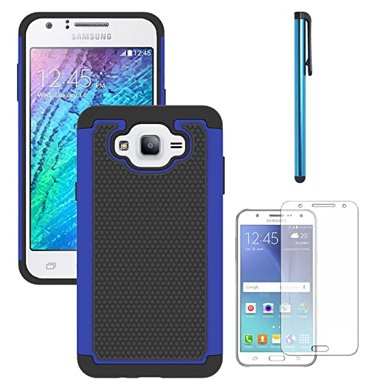 new style 27b81 7115b Galaxy J7 Neo J701M/J7 Nxt J701F/J7 Core J701 Case, With Screen Protector,  Telegaming Dual Layer Armor Case Drop Protection TPU & Hard PC Back Cover  ...