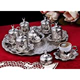 Ottoman Turkish Greek Arabic Coffee Espresso Guest Serving Cup Saucer Set by BOSPHORUS