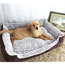 BigBig Home Warm Removable Cotton Dog Bed Pet Products Waterproof Velvet Pet Nest Pet Mats, S(19.7x15.0x6.3inch)