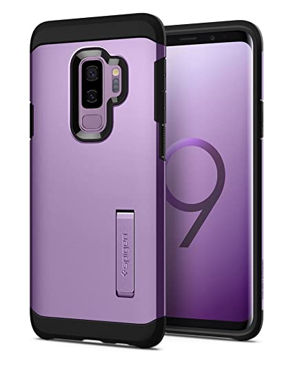 buy popular 56991 ab868 Spigen Tough Armor Designed for Samsung Galaxy S9 Plus Case (2018) - Lilac  Purple