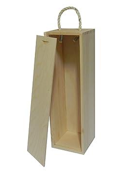 Woode World Caja de Madera para Botellas de Vino, Caja de Regalo para decoupage Artesanal, Madera de Pino: Amazon.es: Hogar