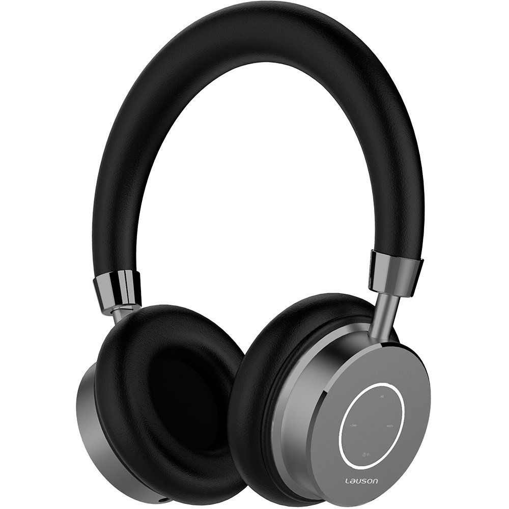 Lauson - Auriculares Bluetooth Inalámbricos con micrófono, Manos libres y control de volumen, Acolchados e Indicador LED, Incluye cable USB de carga ...