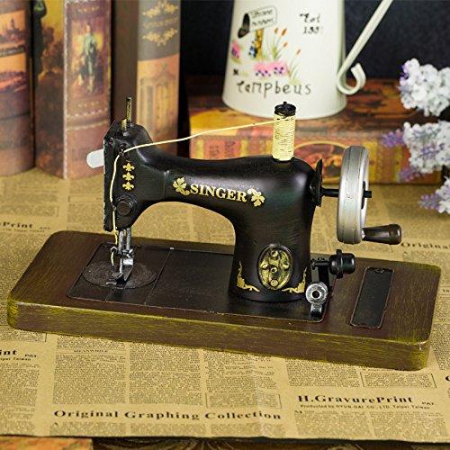 GFEI Maquina de coser antigua retro muebles hogar muebles hierro estaño modelo PROPS / tienda de ropa la decoracion de ventana,Un: Amazon.es: Hogar