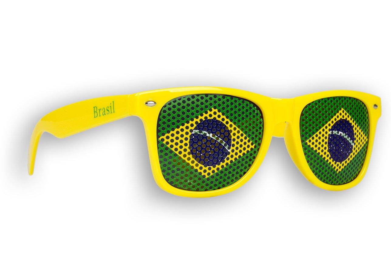 5 x Fanbrille Brasilien - Brasil tfknT