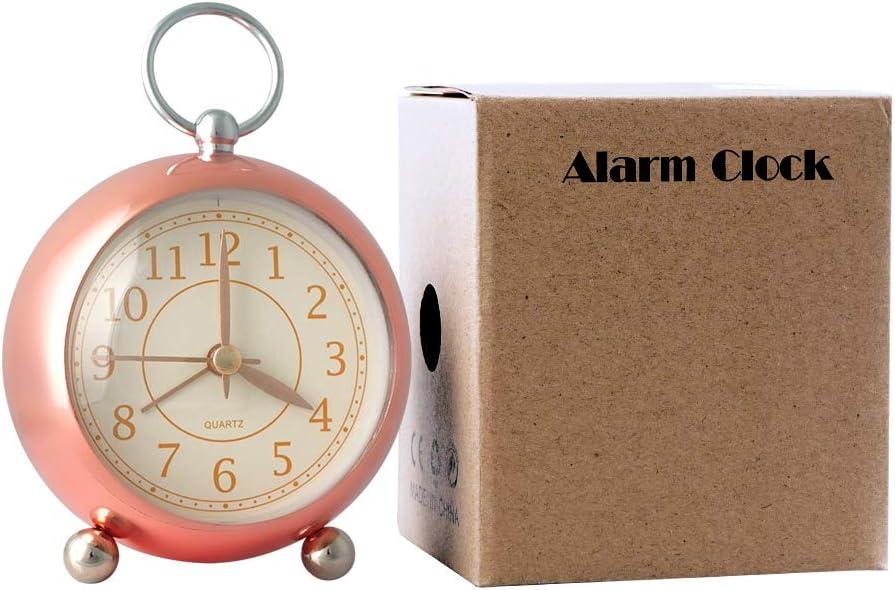 Keypower Direct Alarm Clock Silent Non-Ticking Decorative Battery Operated Desktop Clock, Table Clock for Living Room, Bathroom Decor Home Office Back to School Kids Children's Loud Alarm Clock