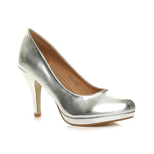d51d6877232434 Femmes Talons Hauts Moyen soirée élégant Escarpins Chaussures Pointure 3 36