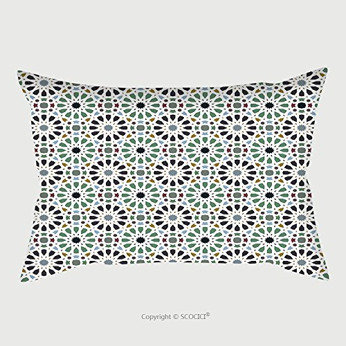 Custom Satin Pillowcase Protector Islamic Seamless Pattern 589214321 Pillow Case Covers Decorative by chaoran