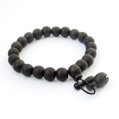fab80edcccd55 Dark Wood Beads Tibetan Buddhist Wrist Mala Bracelet for Meditation