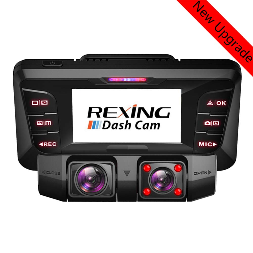 RWXING 4K Ultra HD WiFi Dash CAM Coche Delantera y Trasera Dual 360/° Gran Angular C/ámara Grabadora con Sony WDR Infrarroja Visi/ón Nocturna G-Sensor Detecci/ón de Movimiento Bateria para Coches