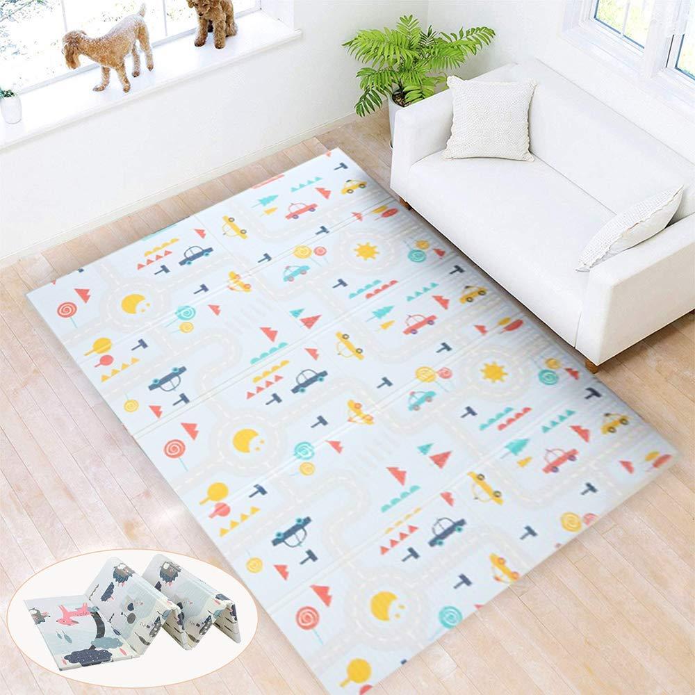 Baby Spielmatte Faltbar Gr/ün SHACOS Babymatte Baby Teppich Krabbelmatte XPE Gro/ß Spielteppich Baby Wasserdicht Tragbar Rutschfest Beidseitig 180x200x1.5 cm