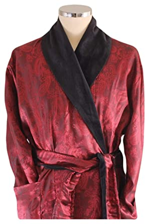 683e706aee Bown of London Mens Bayswater Paisley Luxury Dressing Gown - Red - Extra  Extra Large  Amazon.co.uk  Clothing