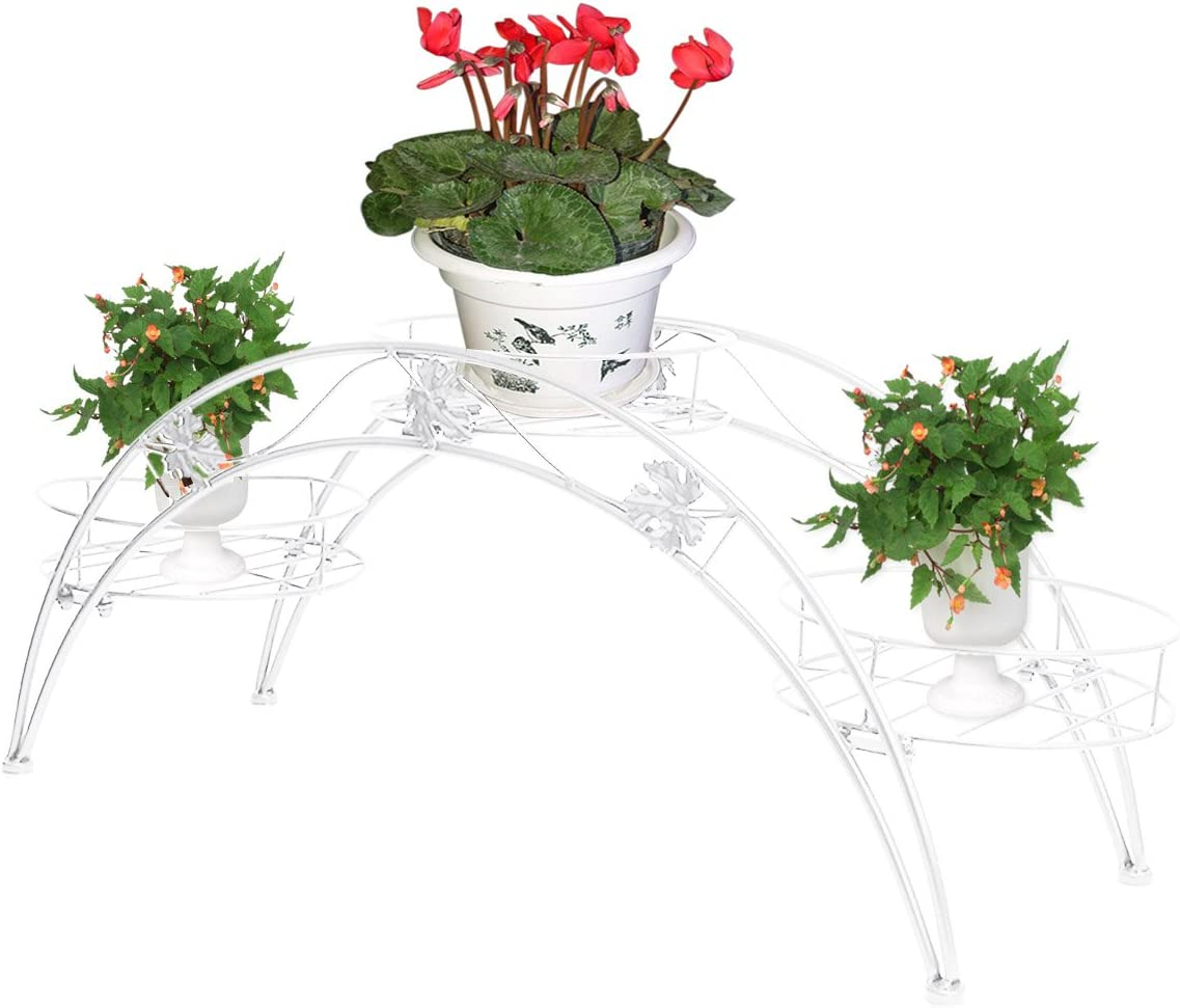 dekorative Blumenkasten Stand Blumenhocker Regal Elegante Arch Design Eisen Pflanzenst/änder Schwarz Blument/öpfe Regal