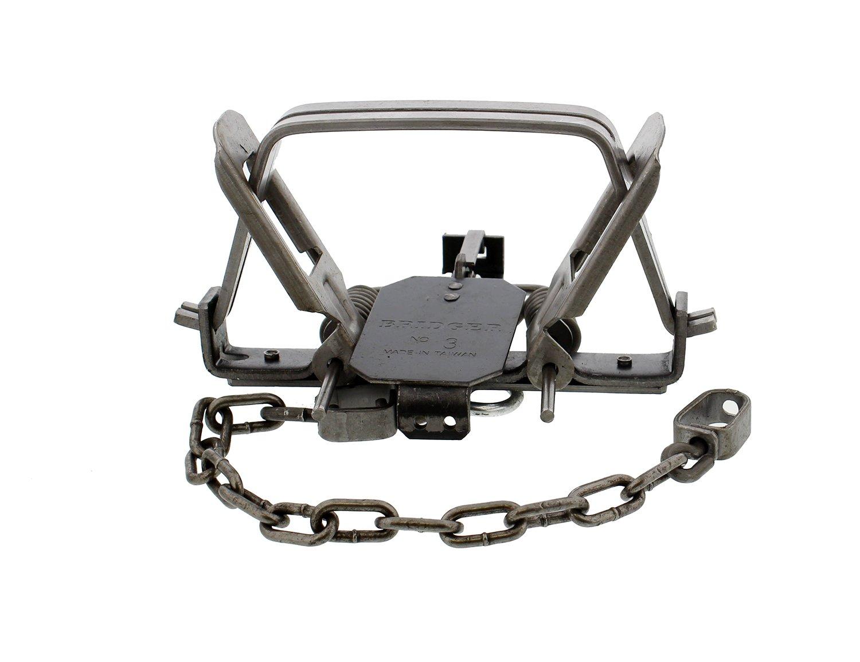 """Redneck Convent Duke 6"""" Inch Animal Leg Trap & Coil Spring 1-Pack – Duke #3 CS OS Offset Jaw Model 0501 – Bobcat, Coyote, Lynx"""