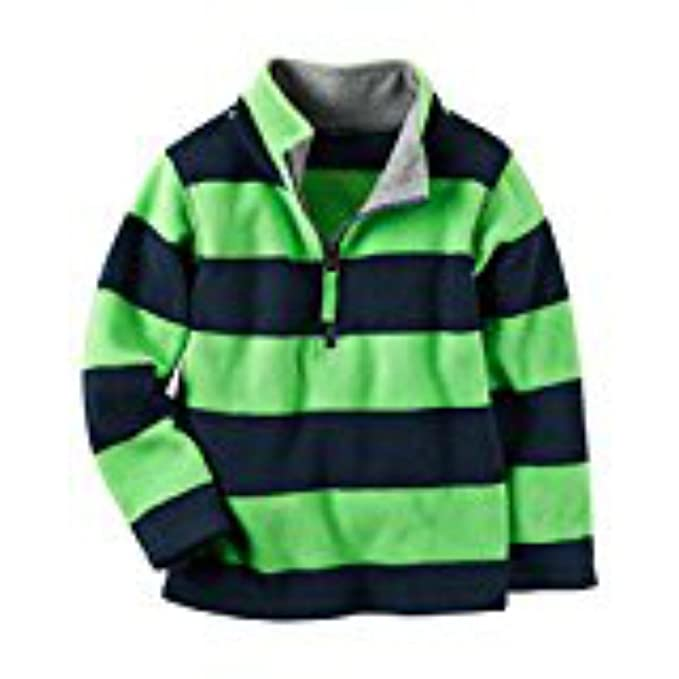 cf3e8300cc05 Amazon.com  Carters Baby Boys Half-Zip Heavyweight Fleece Pullover ...