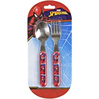 Kids Marvel Spider-man Stainless Steel And Plastic Cutlery Set