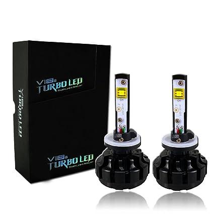 Amazon.com: 8-48V 40W CREE V18 Turbo Led Lamp Car 360° LED Headlight Conversion Kit 6000K (880): Automotive