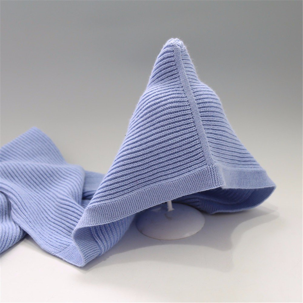 Womens elegante Trawler inverno maglia Skullies Berretti Ski Hat,blu,lunghezza 127cm