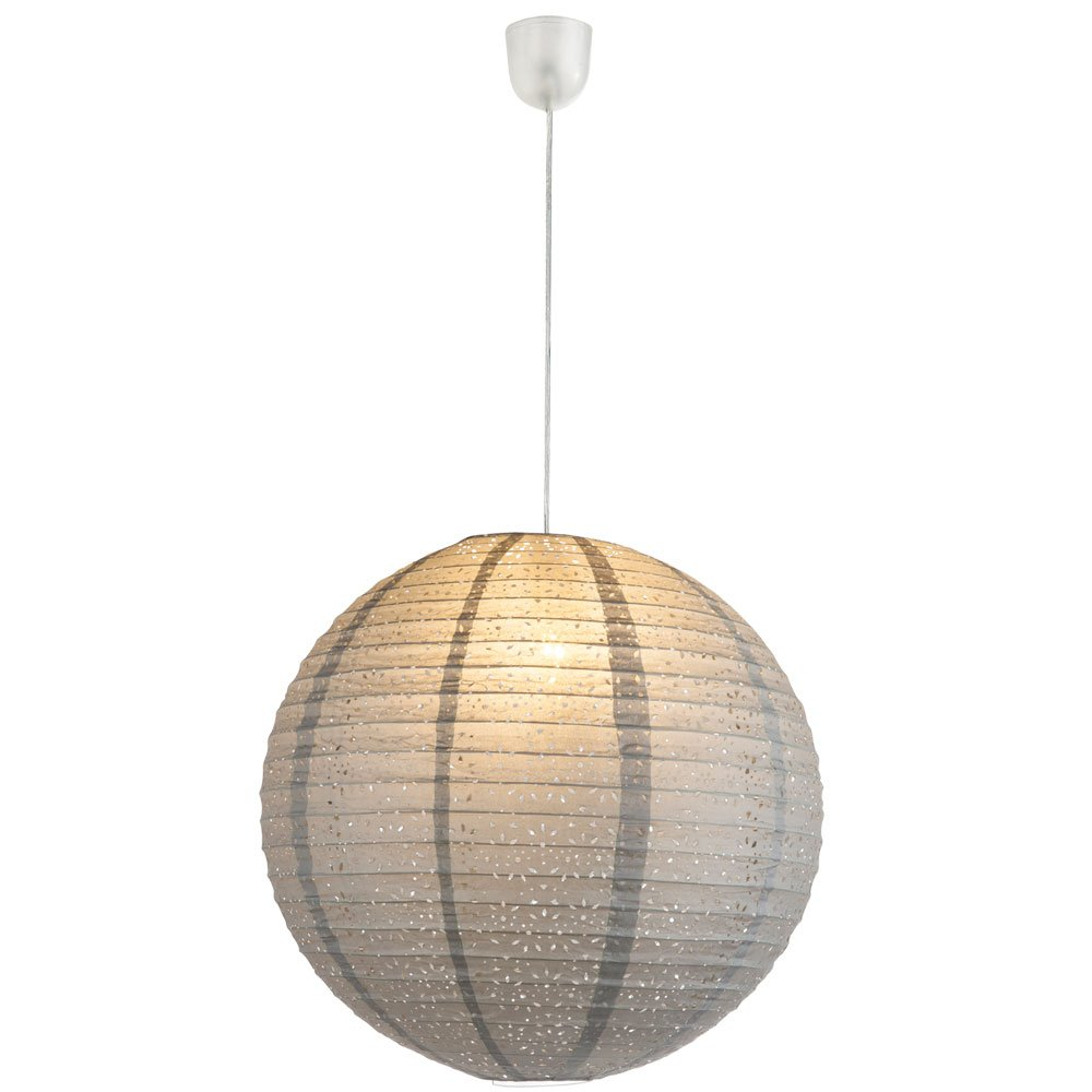 Luxus LED Hänge Pendel Leuchte Wohnraum Papier Kugel Muster Lampe weiß EEK A+