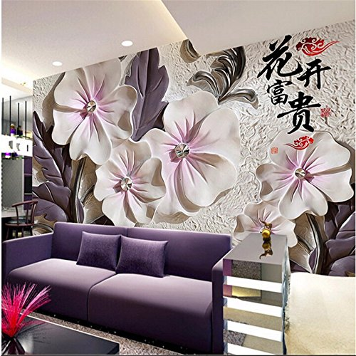 250cmX175cm 2017 Custom Modern Luxury Photo Wall Mural 3D Wallpaper Papel De Parede Living Room Tv Backdrop Wall Paper Of China Flower,C by 3Ds wallpaper (Image #3)