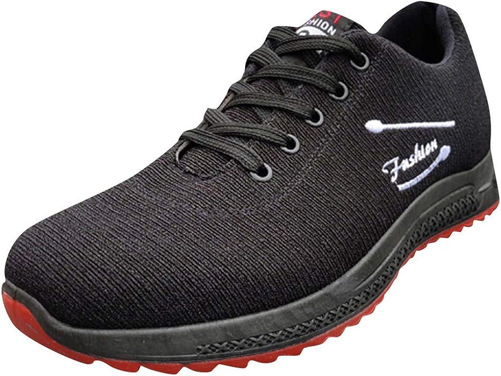 ZARLLE_ Hombre Zapatillas de Correr Malla Casual Zapatillas Running Hombre Deportivo Sneakers Correr Calzado Cordones Malla Fitness Zapatos Respirable Negro Rojo Blanco 39-44: Amazon.es: Zapatos y complementos