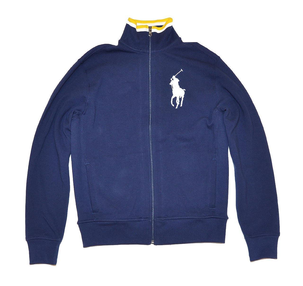 c63b634af99f RALPH LAUREN Polo Men s Big Pony Full Zip Navy Blue Long Sleeve Jacket at  Amazon Men s Clothing store