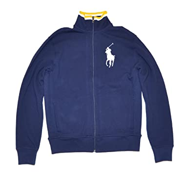 18b35354e91d Ralph Lauren Polo Men s Big Pony Full Zip Navy Blue Long Sleeve Jacket  (Medium)