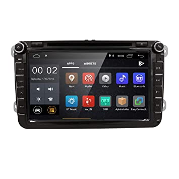 "8"" Reproductor Multimedia DVD 2 Din GPS Navegador Android 6.0 Quad Core con WIFI Bluetooth"