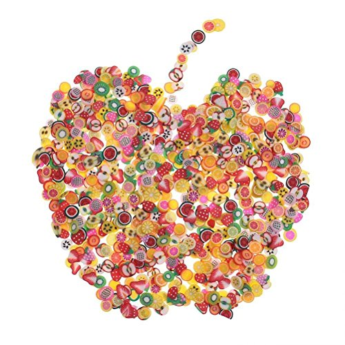 Eshylala 2000 Pieces Fruit Nail Art Slice Decorations Fruit Fimo Slices for Slime DIY Crafts