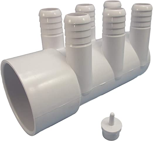 """Water Manifold Base Kit Hot Tub Spa 2/""""spg x Dead End x 3//4/"""" Video How To 6"""
