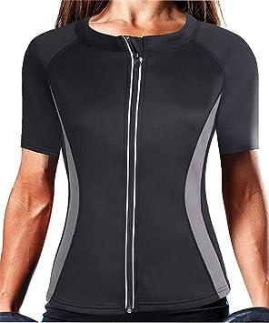 QIGAOZU Camisa de Fitness para Mujer Adelgazar Blusa Caliente Neopreno Body Shaper Sudor Sauna Cintura Tranier Chaleco Invierno Mantener Caliente Tanque Top: Amazon.es: Deportes y aire libre