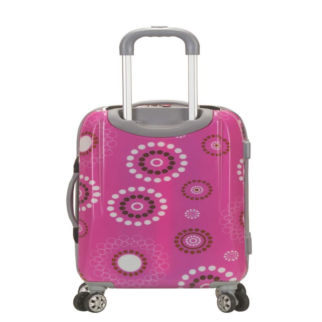 4e8056073e9 Girls Hot Pink Black White Floral Dots Theme Carry On Luggage Hardtop  Hardside Roller Wheel Set, Girls All Over Multi Flower Polka Dot Themed  Suitcase ...