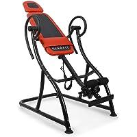 Klarfit Relax Zone Comfort inversiebank ophangbare rugtrainer rugbank (voor het strekken van de wervelkolom, tot 150 kg…