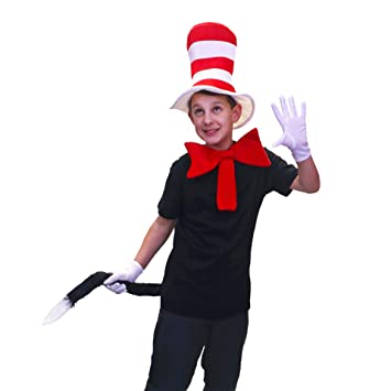 various colors super popular quality and quantity assured Child Cat in the Hat Fancy Dress - Full 5 piece set