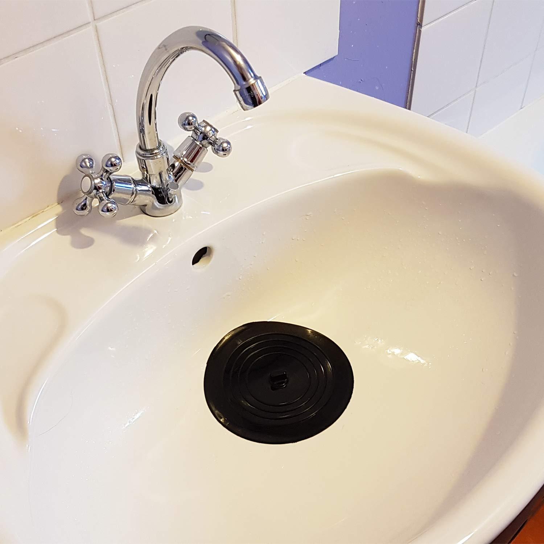 Bouchon baignoire|5 COULEURS|✮✮GARANTIE A VIE✮✮ bouchon lavabo pour salle de bains et cuisine Bouchon evier de cuisine|DIAMETRE 15,2 CM ✮MARQUE FRANCAISE✮-CZ Store/® bouchon ventouse en silicone