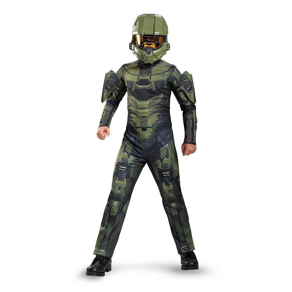 Disguise Master Chief Classic Costume, Medium (7-8)