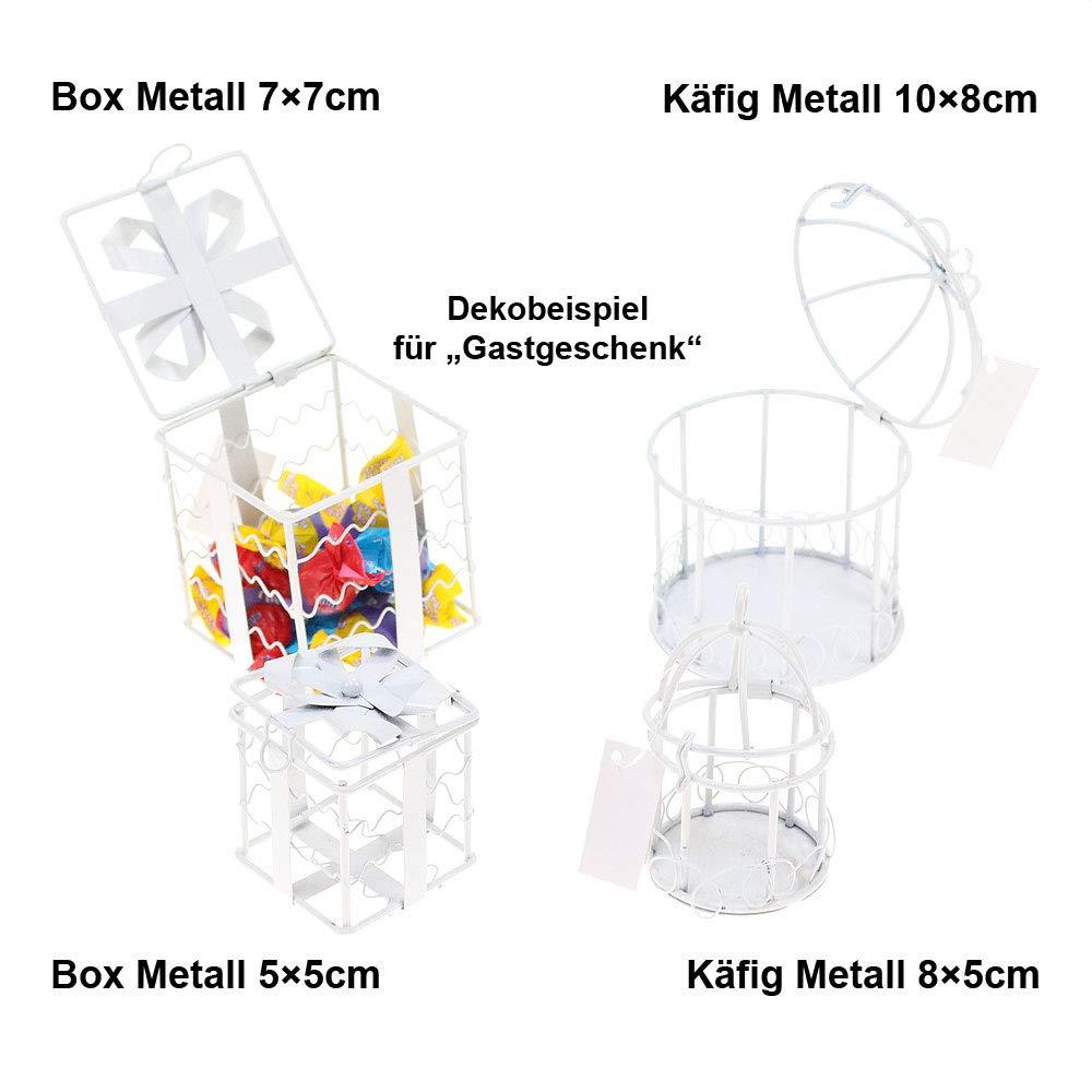 """Kleine Schraubgläser 6 Stück /""""Klar/"""" 8x5 cm Mini Glas Gastgeschenk Hochzeit"""